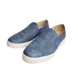 Vionic Splendid Midi Snake Slipon Sneaker Blue 9.5